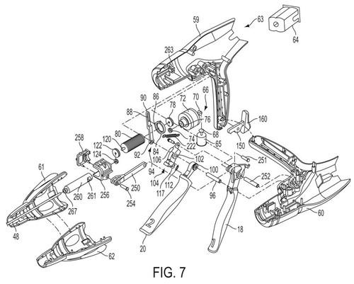 Mechanical patent drawing illustration 4