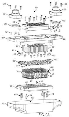 Mechanical patent drawing illustration 10