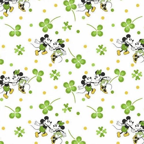 Mickey and Minnie Mouse St Patrick's Day - Bandana