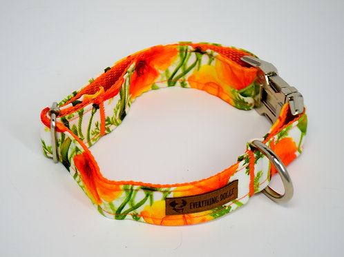 California Poppies - Dog Collar