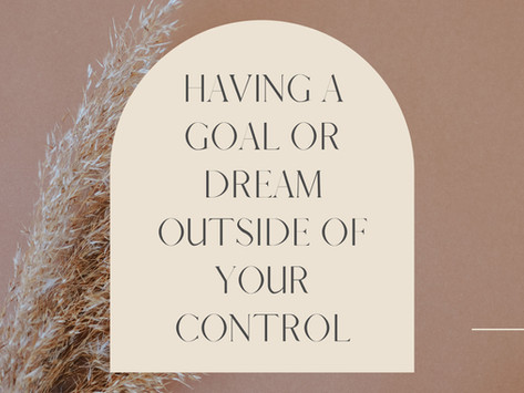 Having A Dream Outside Your Control