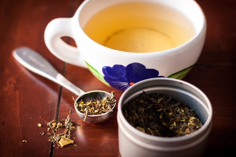 green tea growing plantation
