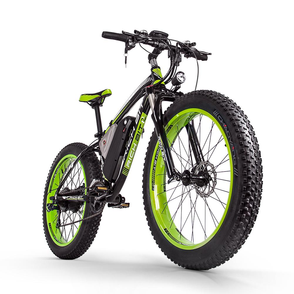 Mountain e-bike 1000w green