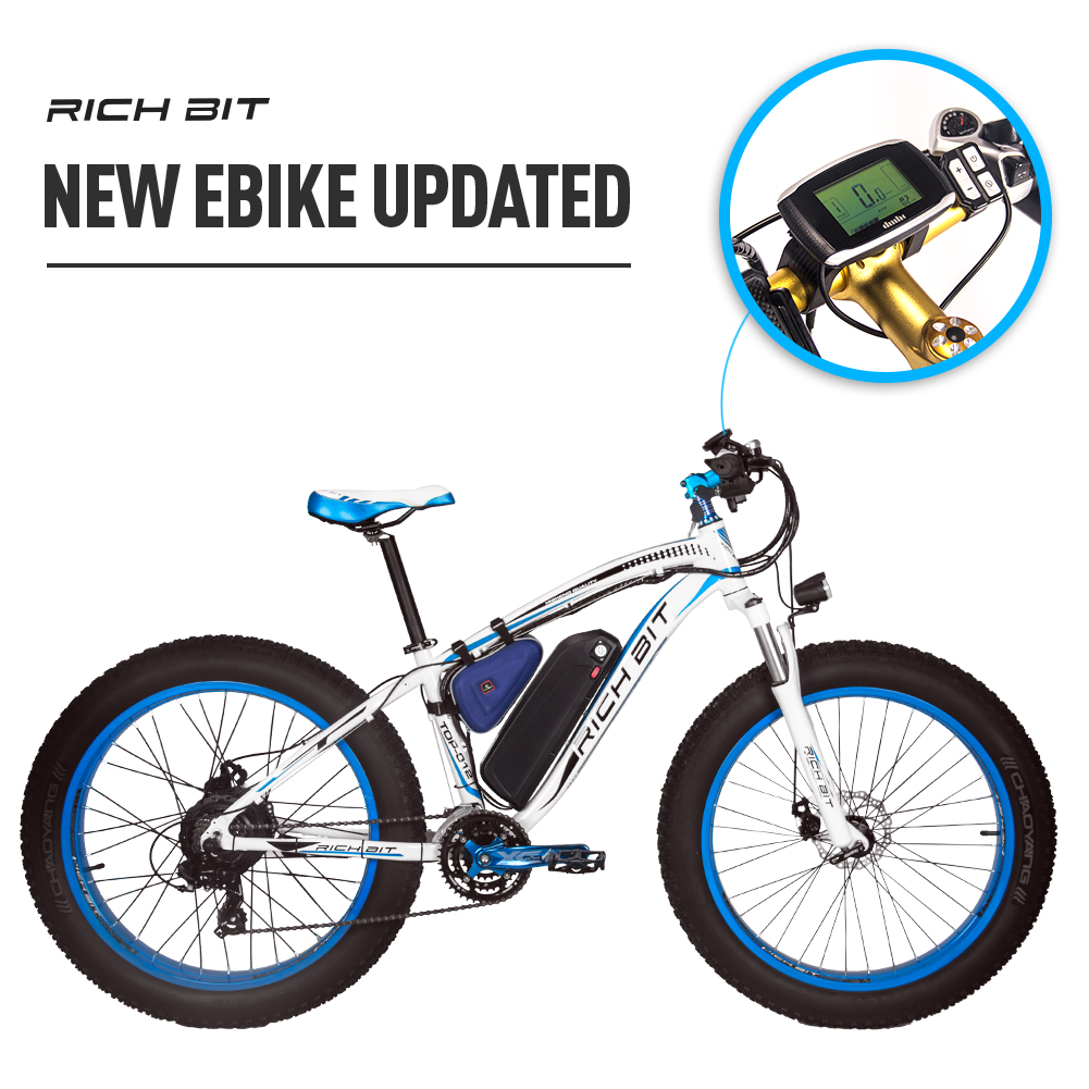 Mountain Ebike with Fat Tires blue