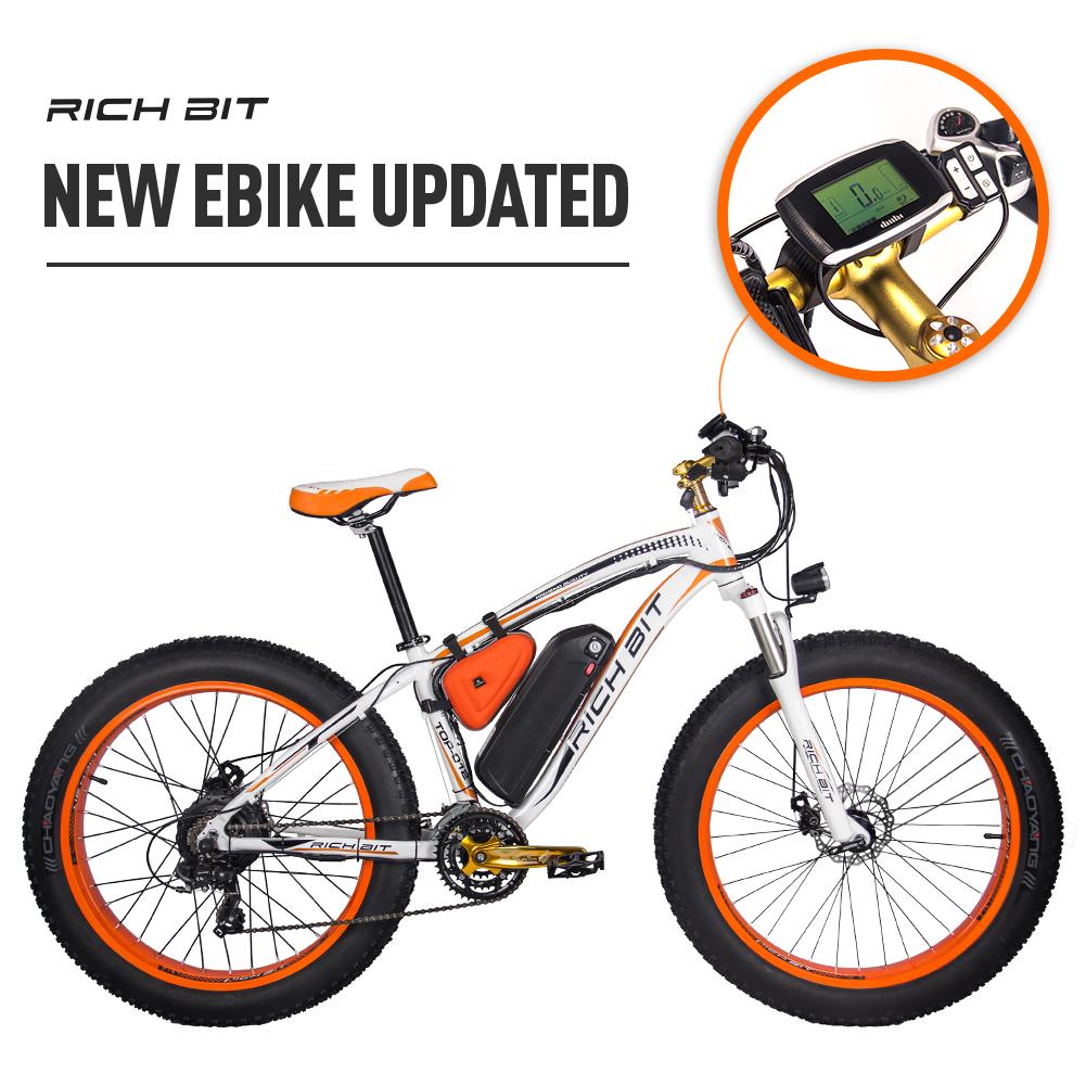 Mountain Ebike with Fat Tires orange