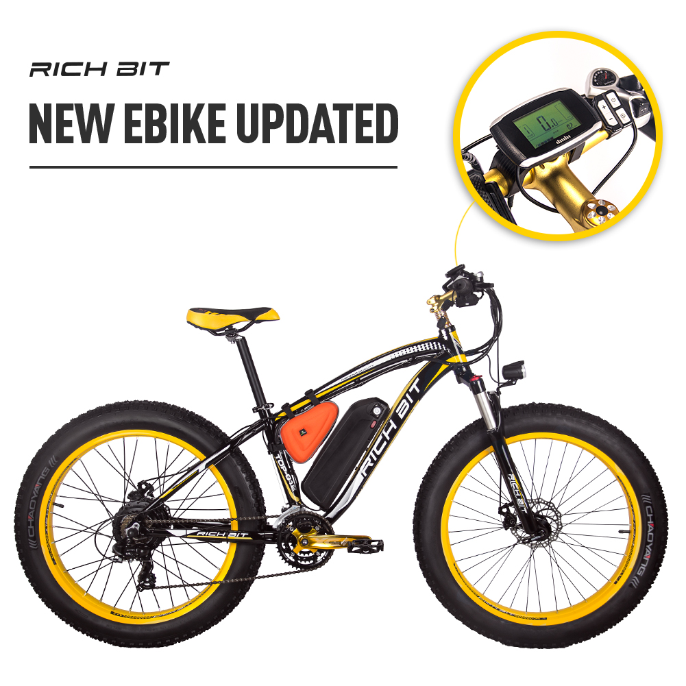 Mountain Ebike with Fat Tires yellow