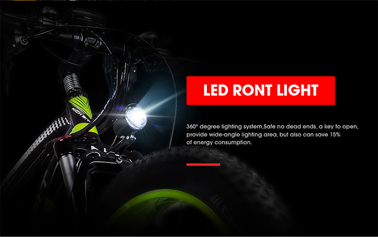 electric fat bike led front light