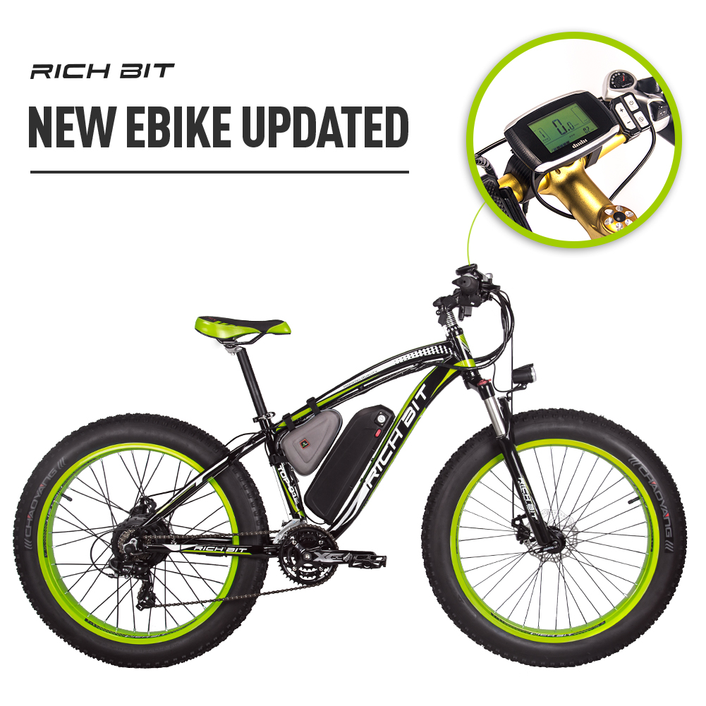 Mountain Ebike with Fat Tires green