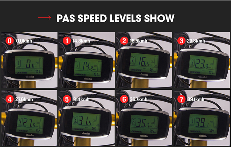 PAS speed levels