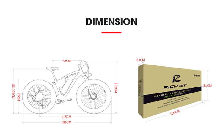 electric fat bike dimensions