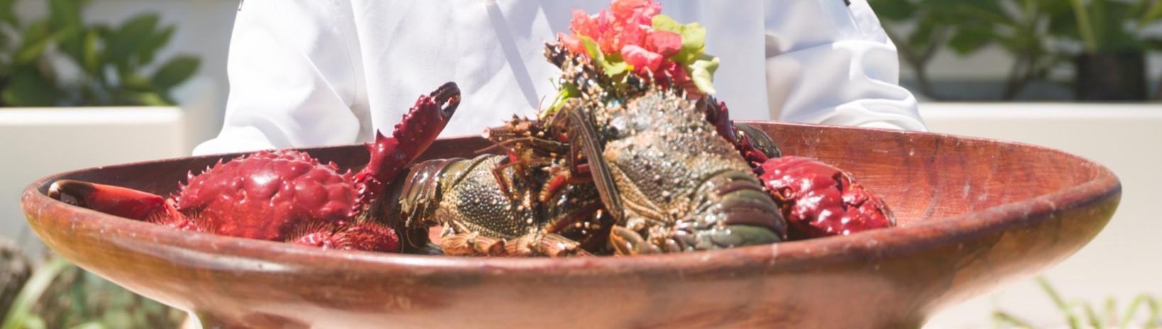 Local lobster and crab at Tamanu.jpg