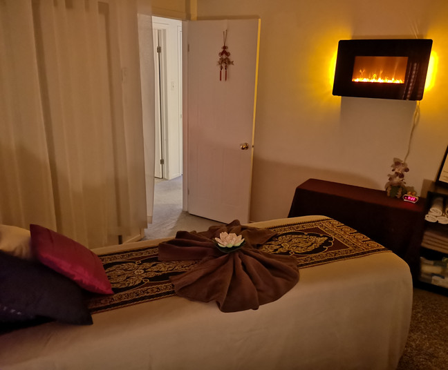 Relaxation massage room