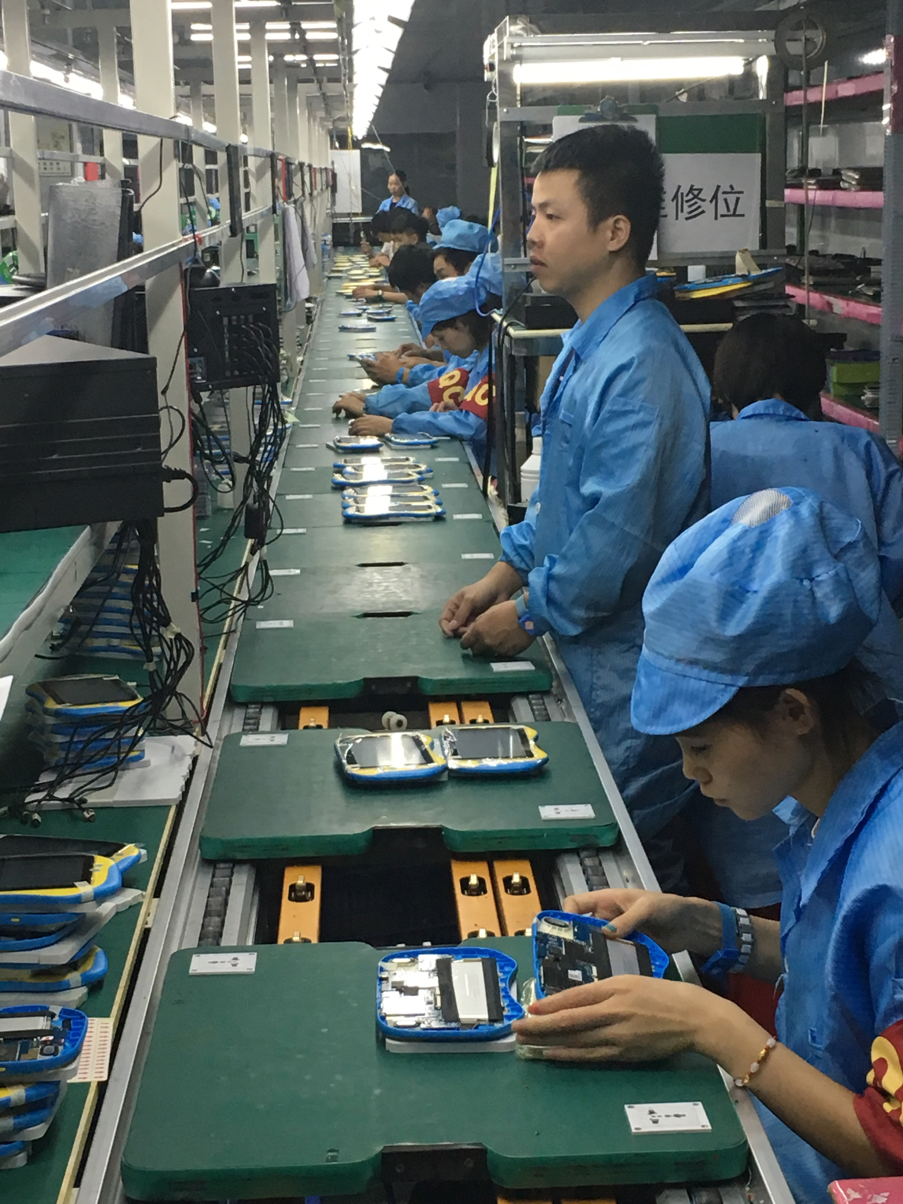 태블릿 조립생산