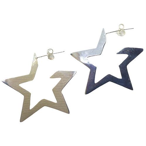Aros Star Chicos Plata 925