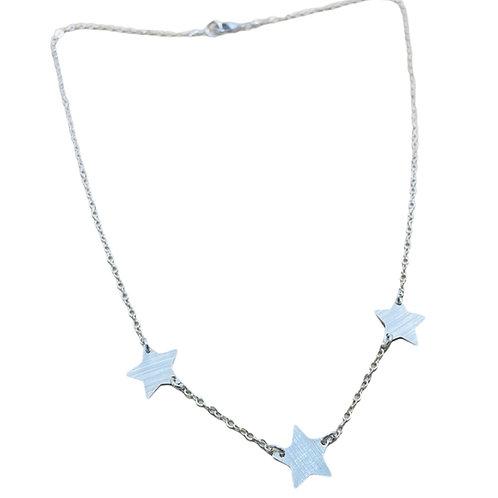 Collar Tres Star Silver