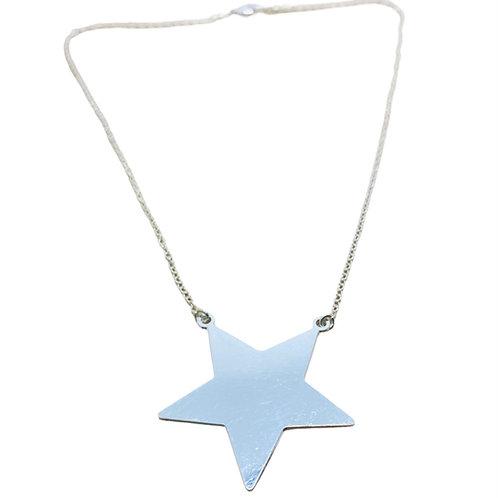 Collar Big Star Plateado