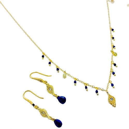 Collar lápiz lazuli