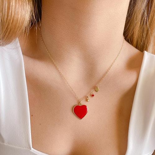 Collar Corazón Rojo