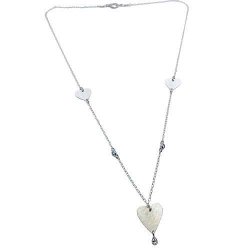 Collar Tres corazones Silver