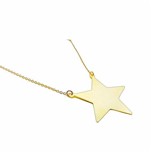 Collar Big Star Dorado