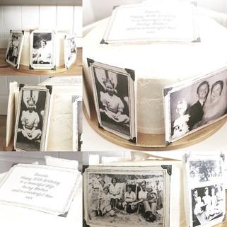 Vintage Photo Cake