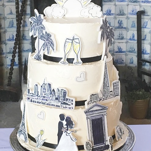Arty Wedding Cake