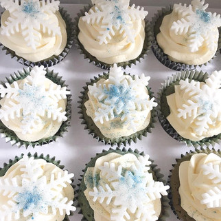 Frozen Style Cupcake Favours