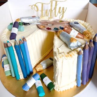 Gluten & Dairy Free Artist Theme Cake
