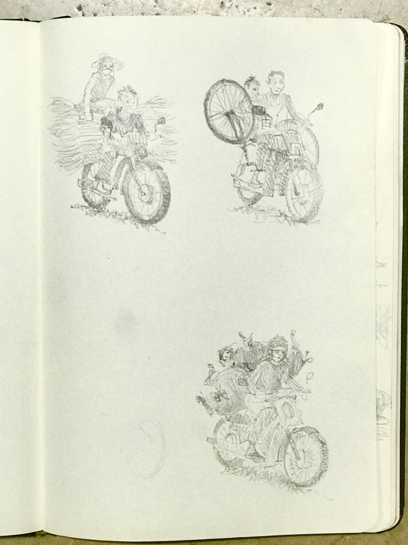 On a Motor bike