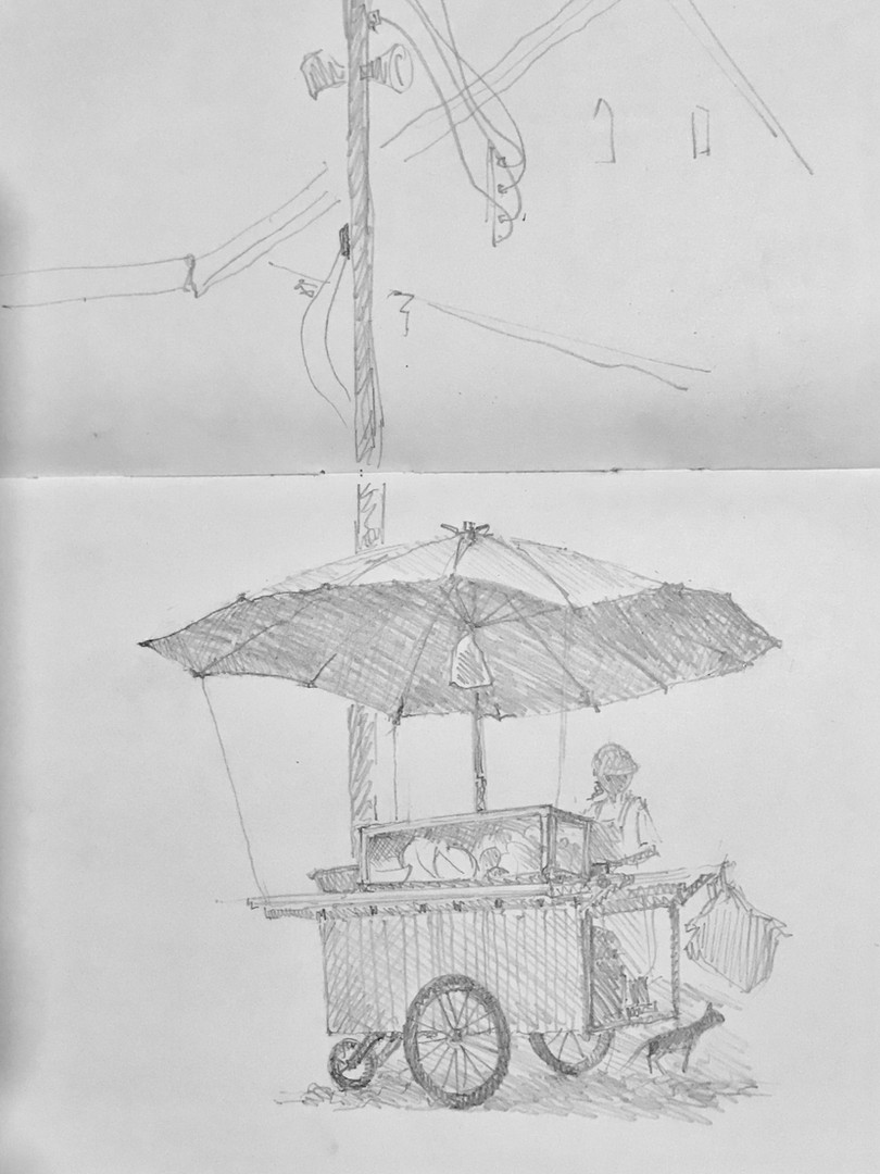 Waremelon seller - Chantaburri old town