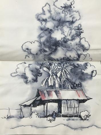 Thai Valley farmers hut