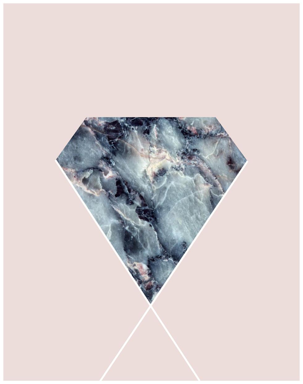 Marble Diamond Poster