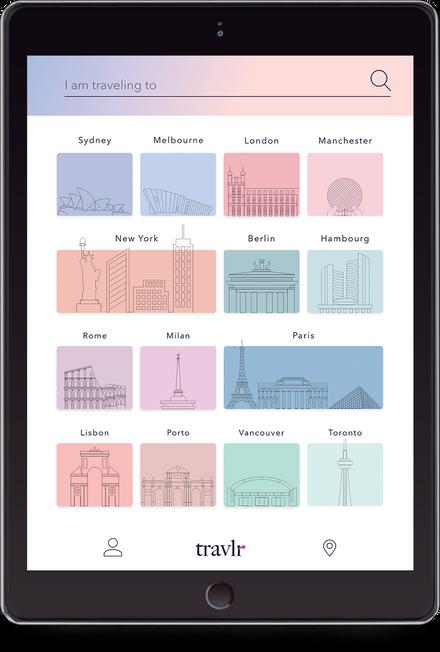 Travlr App UI