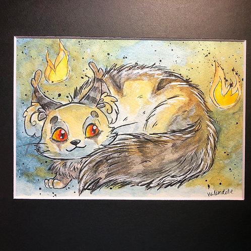 "Matted Original ""Magic Cat"""