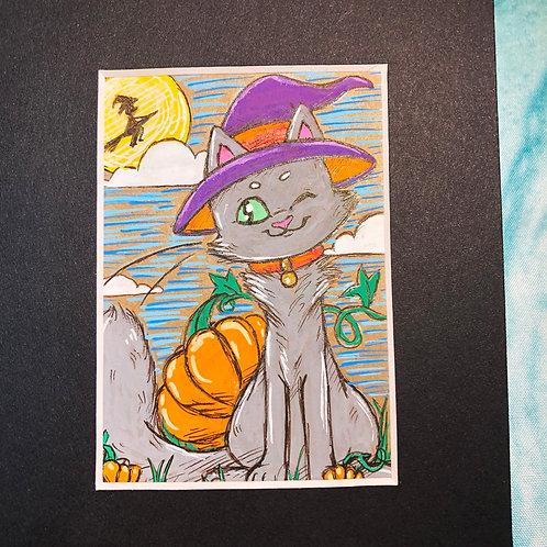 """Matted Original """"Halloween"""""""