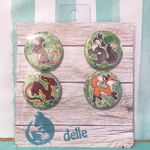 Animal Button Set
