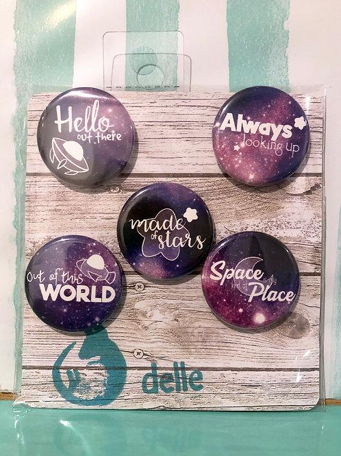 Spacey Button Set