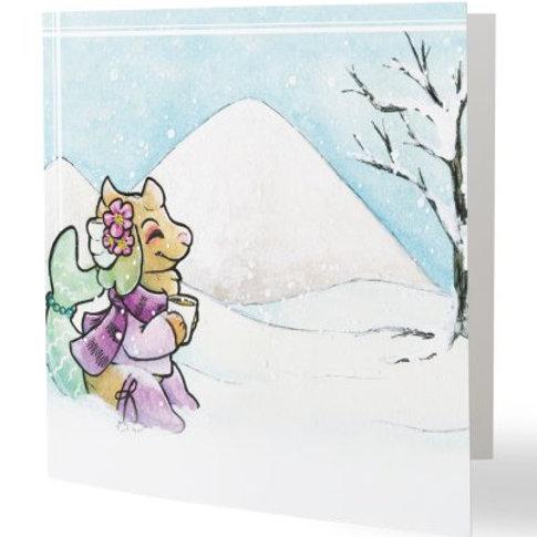 Hot Chocolate Holiday Card