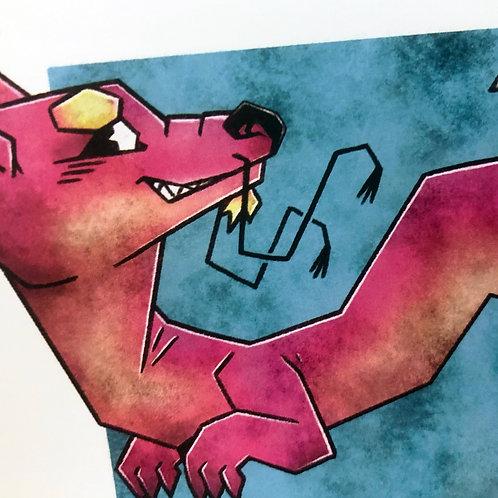 Angle Dragon Print