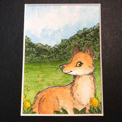 "Matted Original ""Summer Fox"""