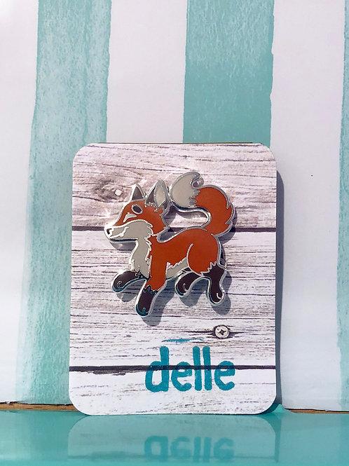 Lil Fox Enamel Pin