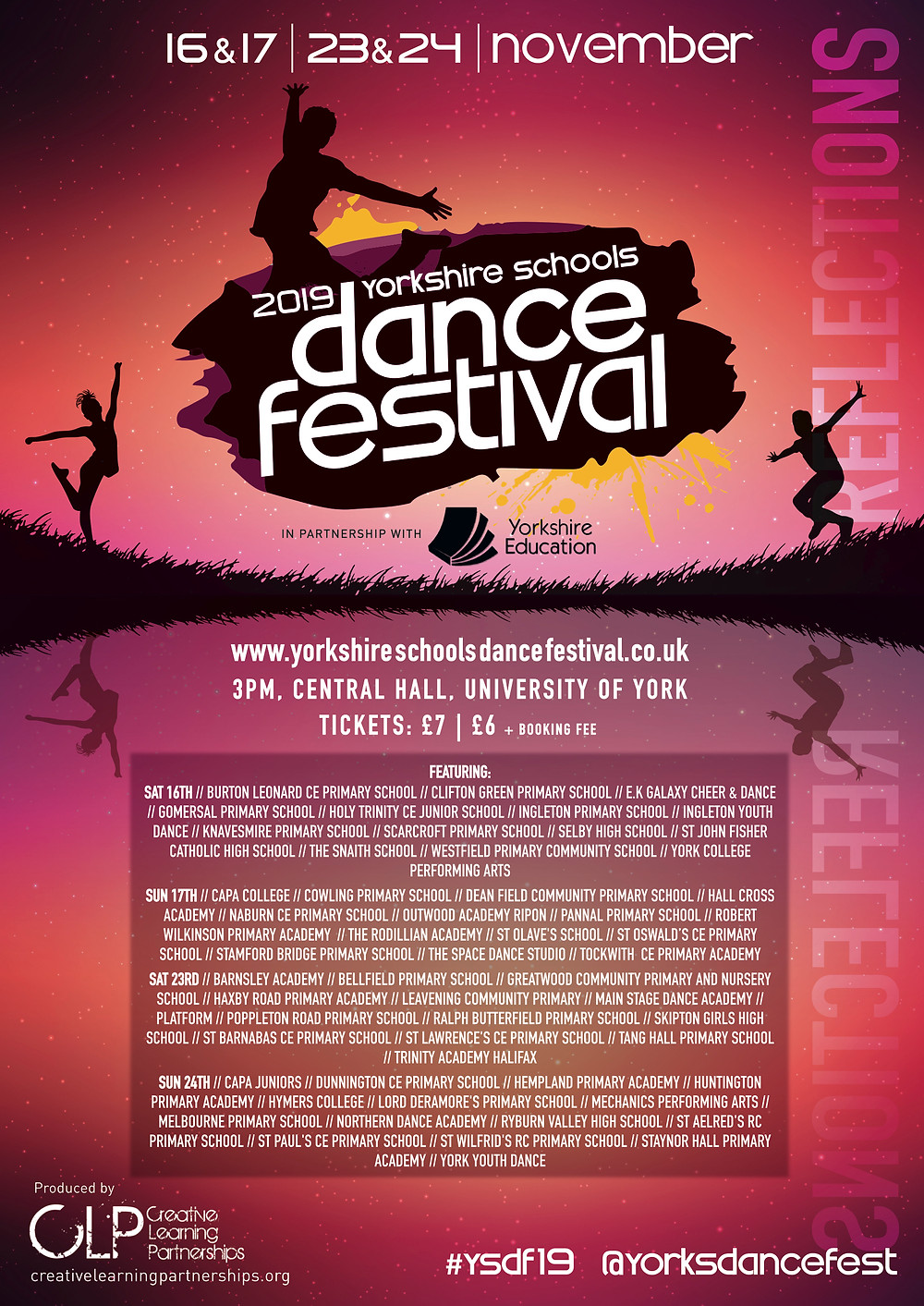 2019 Yorkshire Schools Dance Festival poster