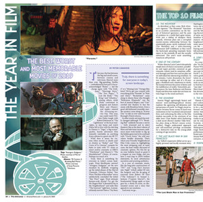Year in Film Spread Layout