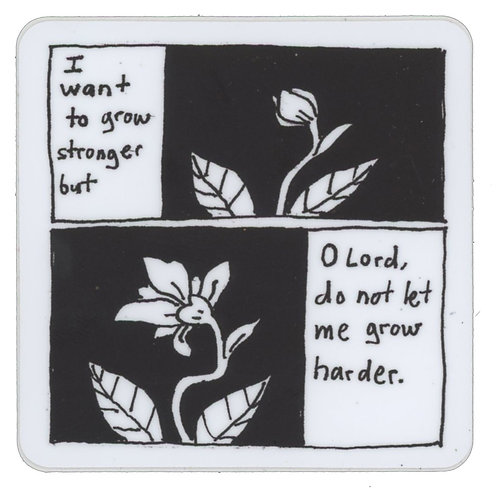 """Growing"" Sticker"