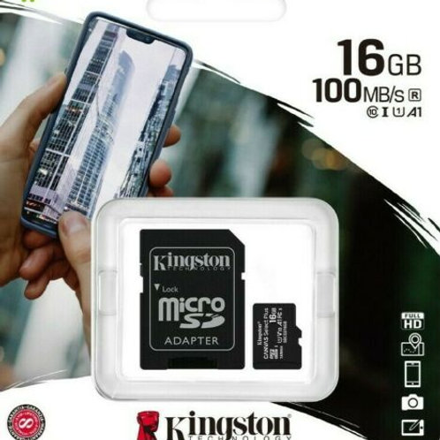 Kingston Canvas Select Plus 16GB Class 10 MicroSD Memory Card (SDCS2/16GB)