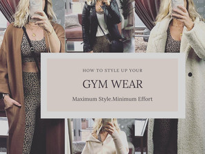 How to leave the house in your gym wear!