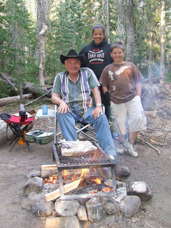At the Campfire with Grandpa
