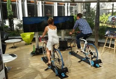 simulateur vélo