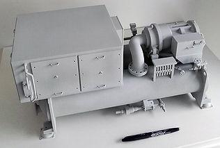 Maquete chiller johnson controls industries exprezis impression 3D machines producton refroidissement paris beijing pékin siège social impession 3D