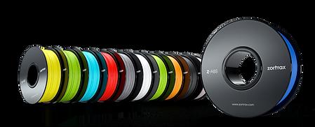 bobines filament zortrax abs pla pei peek spéciaux exprezis angers impression 3d consomable
